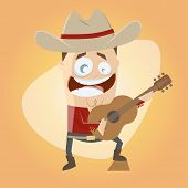 funny cartoon country singer