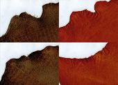 Ragged Edges Terracotta Suede And Brown Crocodile Leather Texture