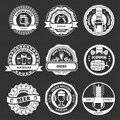 Beer Logo & Labels  On A Black Background
