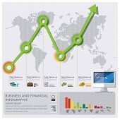 Business And Financial Arrow Graph Infographic