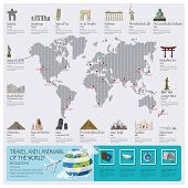 Travel And Journey Landmark Of The World Infographic