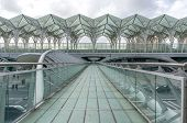 LISBON, PORTUGAL - APRIL 1, 2013: Oriente Train Station. This Station was designed by Santiago Calatrava for the Expo '98 world's fair.