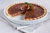 Caramel Tart With Figs
