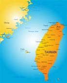 Vector color map of Taiwan