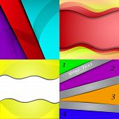 Big Set Of Soft Colored Abstract Background. Vector
