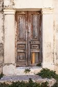 very old wood door