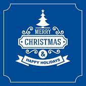 Christmas Retro Typographic Background. Vector