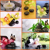 Spa stones collage