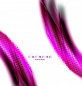 Unusual abstract background - blurred wave on white, shiny template with dot texture