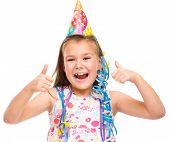 Cute Girl Celebrate Her Birthday