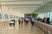 Passengers at Ben Gurion Airport.