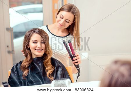 poster of Beautiful woman in hair salon
