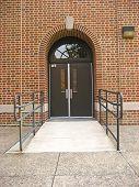 School Door with Wheelchair Ramp
