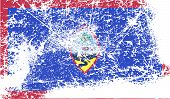 picture of guam  - Flag of Guam with old texture - JPG