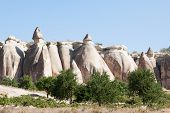 picture of goreme  - Close up of rock formation at Goreme in Turkey