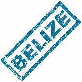 Belize rubber stamp