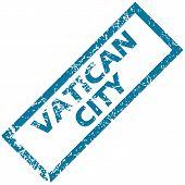 Vatican city rubber stamp