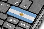 Go To Argentina! Computer Keyboard With Flag Key.