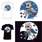 Skeletons. T-shirt. Angelic Grace
