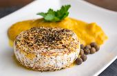 Grilled Camembert Cheese With Pumpkin Puree