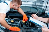 stock photo of check  - Running diagnostics - JPG