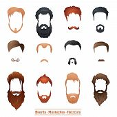 Beards and Mustaches, Hairstyles