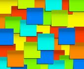 Vector modern square sticky note  background.