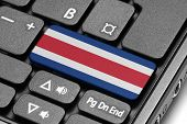 Go To Costa Rica! Computer Keyboard With Flag Key.