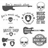 picture of guitar  - Collection of vintage logo - JPG