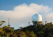 picture of geodesic  - Radome geodesic dome on the top of Waimea Canyon on Kauai Hawaii - JPG