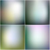 Vector web and mobile interface templates. Editable blurred hexagonal backgrounds set