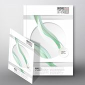 Colored wave background. Brochure, flyer or report for business, template vector