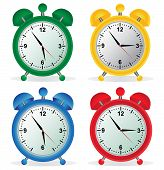 Alarm, clock, time, vector, illustration, set