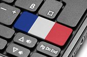 Go To France! Computer Keyboard With Flag Key.