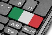 Go To Italy! Computer Keyboard With Flag Key.