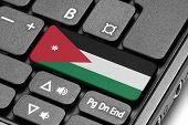Go To Jordan! Computer Keyboard With Flag Key.