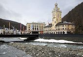 City Hall in the Rosa Khutor Alpine Resort.