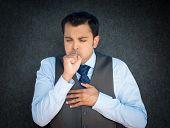 Coughing, Sneezing Sick Man