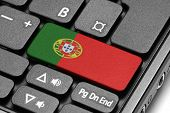 Go To Portugal! Computer Keyboard With Flag Key.