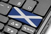 Go To Scotland! Computer Keyboard With Flag Key.
