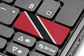 Go To Trinidad And Tobago! Computer Keyboard With Flag Key.