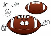 American football or rugby ball cartoon character
