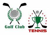 Golf club heraldic logo or emblems