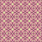 Abstract Geometric Floral Pattern
