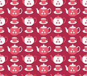 picture of teapot  - Seamless pattern with colorful teapots vector background - JPG
