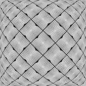 Design Warped Monochrome Geometric Pattern