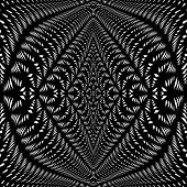 Design Symmetric Lacy Warped Pattern