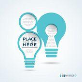 Light Bulb Shape Abstract Design Layout