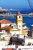 Church and port area, Almeria.