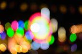 Colorful Defocused Color Lights Bokeh Background, Chrismas Lights Bokeh